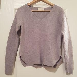 Wilfred Free 100% Merino Wool grey woman top